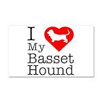 I Love My Basset Hound Car Magnet 20 x 12