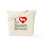 I Love My Basset Hound Tote Bag
