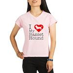 I Love My Basset Hound Performance Dry T-Shirt