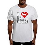I Love My Basset Hound Light T-Shirt