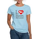 I Love My Basset Hound Women's Light T-Shirt