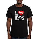 I Love My Basset Hound Men's Fitted T-Shirt (dark)