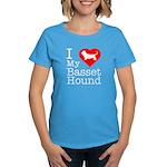 I Love My Basset Hound Women's Dark T-Shirt