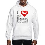 I Love My Basset Hound Hooded Sweatshirt