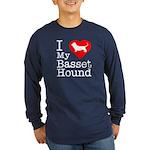 I Love My Basset Hound Long Sleeve Dark T-Shirt