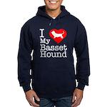 I Love My Basset Hound Hoodie (dark)