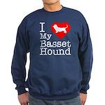 I Love My Basset Hound Sweatshirt (dark)