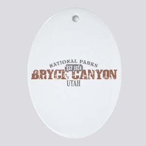 Bryce Canyon National Park UT Ornament (Oval)