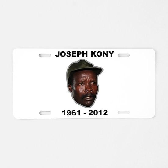 Kony 2012 Obituary Aluminum License Plate