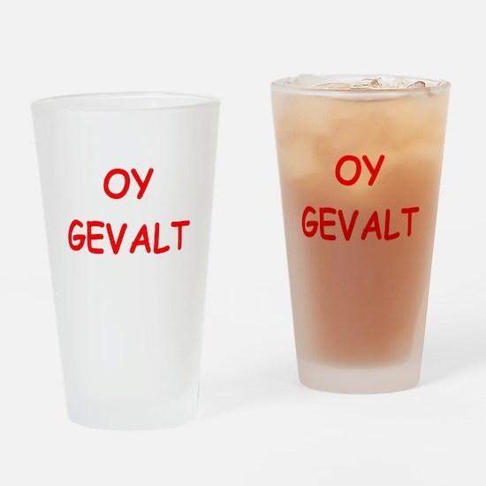yiddish Drinking Glass