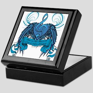 Blue Turn on the Music Keepsake Box