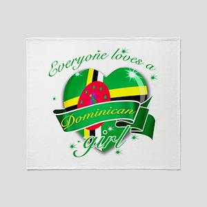 I heart Dominican Designs Throw Blanket