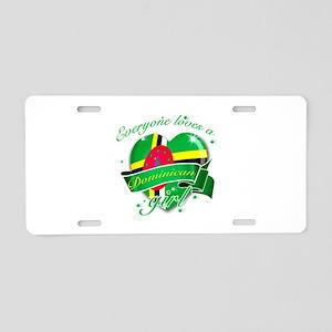 I heart Dominican Designs Aluminum License Plate