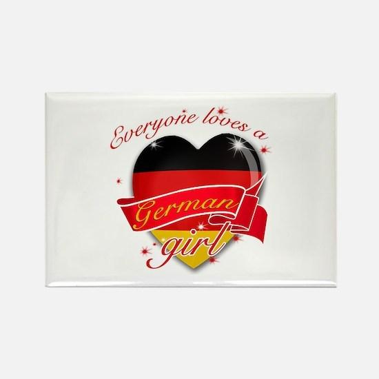 I heart German Designs Rectangle Magnet