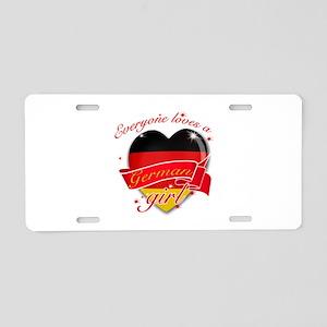 I heart German Designs Aluminum License Plate