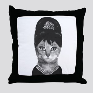 DIVA CAT Throw Pillow