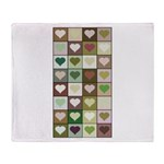 Army colors hearts pattern Throw Blanket