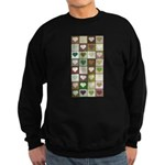 Army colors hearts pattern Sweatshirt (dark)