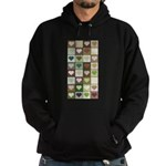 Army colors hearts pattern Hoodie (dark)