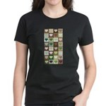 Army colors hearts pattern Women's Dark T-Shirt