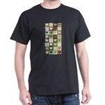 Army colors hearts pattern Dark T-Shirt