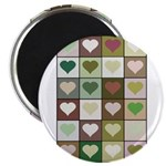Army colors hearts pattern Magnet