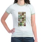 Army colors hearts pattern Jr. Ringer T-Shirt