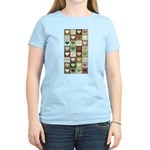 Army colors hearts pattern Women's Light T-Shirt