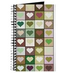 Army colors hearts pattern Journal