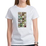 Army colors hearts pattern Women's T-Shirt