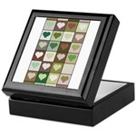 Army colors hearts pattern Keepsake Box