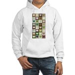 Army colors hearts pattern Hooded Sweatshirt