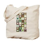 Army colors hearts pattern Tote Bag