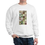 Army colors hearts pattern Sweatshirt