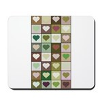 Army colors hearts pattern Mousepad