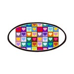 Rainbow Heart Squares Pattern Patches