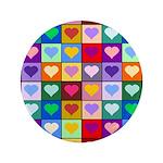 Rainbow Heart Squares Pattern 3.5