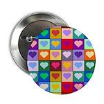 Rainbow Heart Squares Pattern 2.25