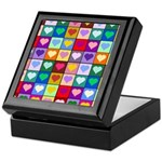 Rainbow Heart Squares Pattern Keepsake Box