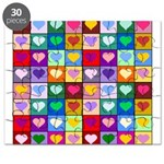 Rainbow Heart Squares Pattern Puzzle