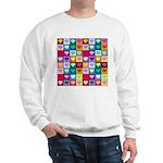Rainbow Heart Squares Pattern Sweatshirt