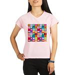 Rainbow Heart Squares Pattern Performance Dry T-Sh