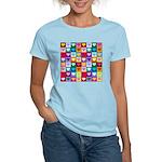 Rainbow Heart Squares Pattern Women's Light T-Shir