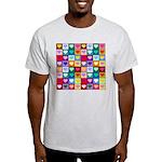 Rainbow Heart Squares Pattern Light T-Shirt