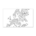 European Food Map 22x14 Wall Peel