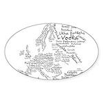 European Food Map Sticker (Oval 50 pk)