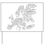 European Food Map Yard Sign