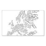 European Food Map Sticker (Rectangle)