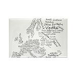 European Food Map Rectangle Magnet (100 pack)