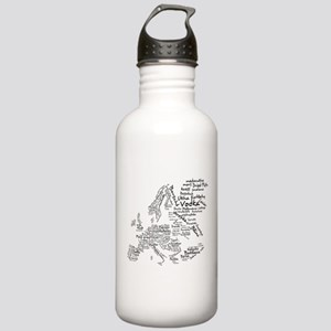 European Food Map Stainless Water Bottle 1.0L